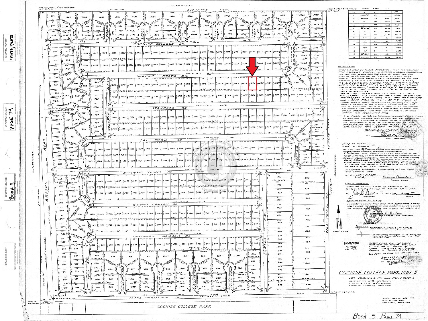 """<span style=""""color: red"""">*SOLD*</span>  - Cochise College Park – Northern Subdivision Lot"""