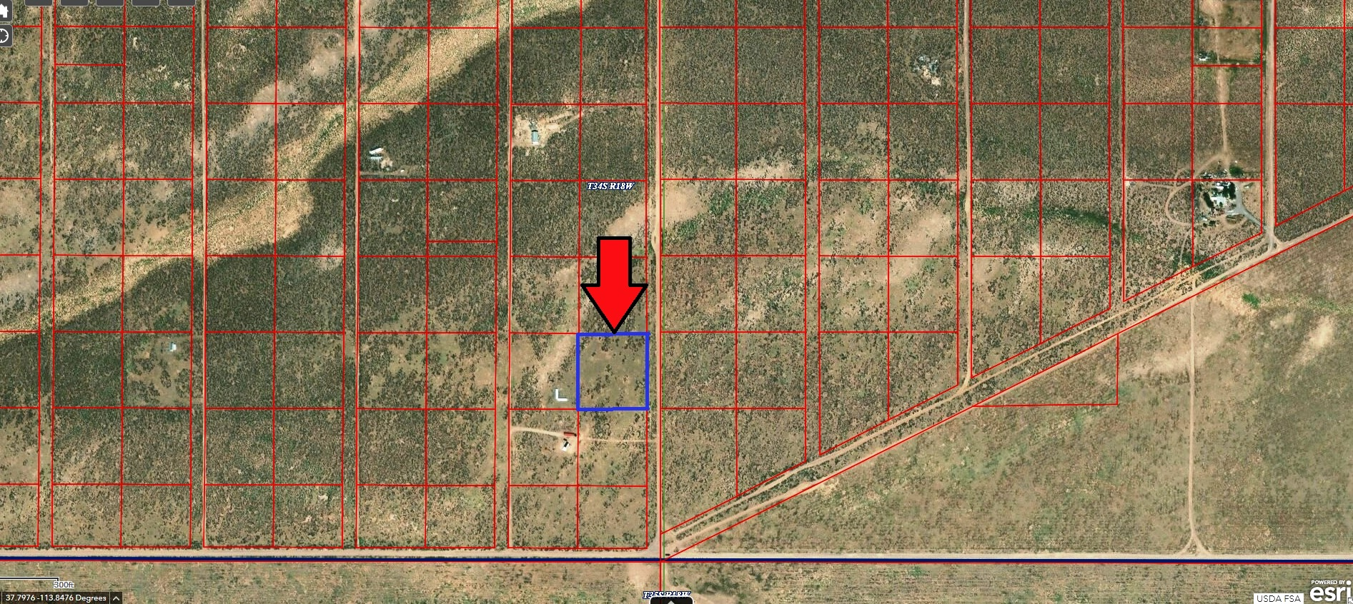 2+ Acres Just North of HWY 56 – Good Roads – Has POWER