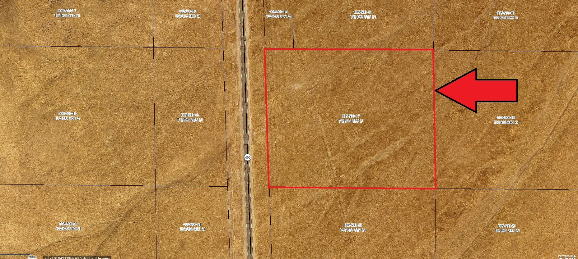 12.5 Acres on HWY 400 – Pershing County – Adjoining Property Also Available