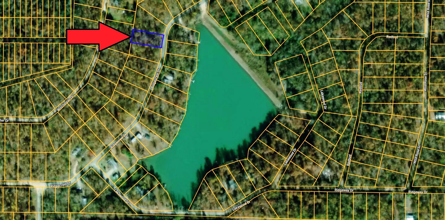 Building Lot in Highland, Arkansas – Paved Road – Across Street from Lake