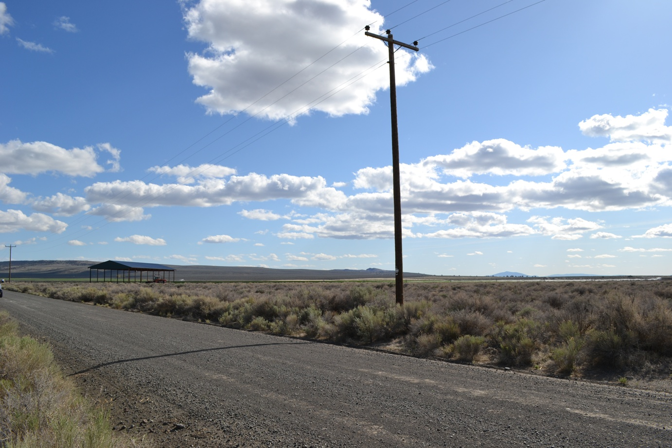 One Acre Homesite Three Miles East of Christmas Valley Townsite Off CV HWY – Great Road, Power